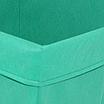 Скринька для зберігання іграшок, 30*30*40 см, (спанбонд), з відворотом зелений, фото 2