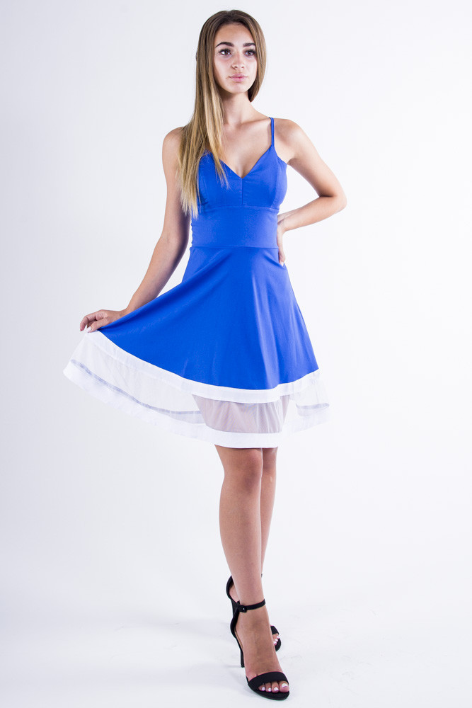 Платье 104R018 цвет Синий