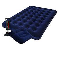 Надувной матрас Pavillo Bestway 67002-1, 137 х 191 х 22 см, с насосом и подушками. Полуторный