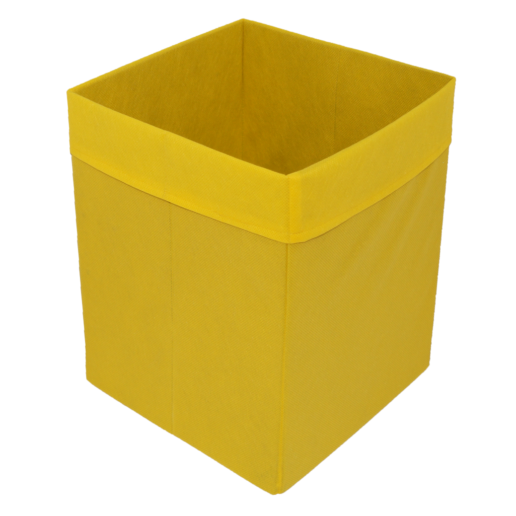 Скринька для зберігання іграшок, 25*25*30 см, (спанбонд), з відворотом жовтий