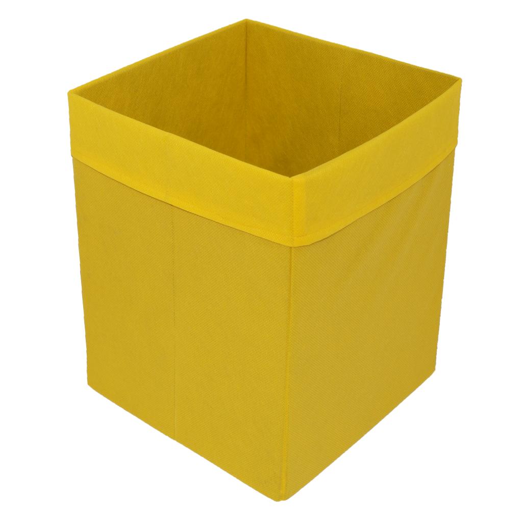 Скринька для зберігання іграшок, 30*30*40 см, (спанбонд), з відворотом жовтий