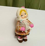 """Интерьерная игрушка """"Девочка с зайчиком"""" из серии """"Любимая игрушка из детства"""", фото 1"""