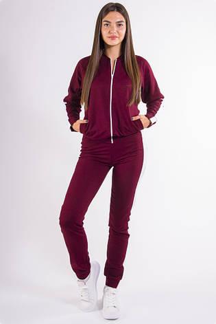 Спорт костюм женский 101R001 цвет Бордо, фото 2