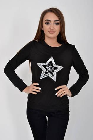 Свитшот женский 102R012 цвет Черный, фото 2