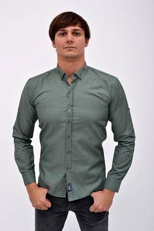 Рубашка 511F003-13 цвет Зеленый, фото 2