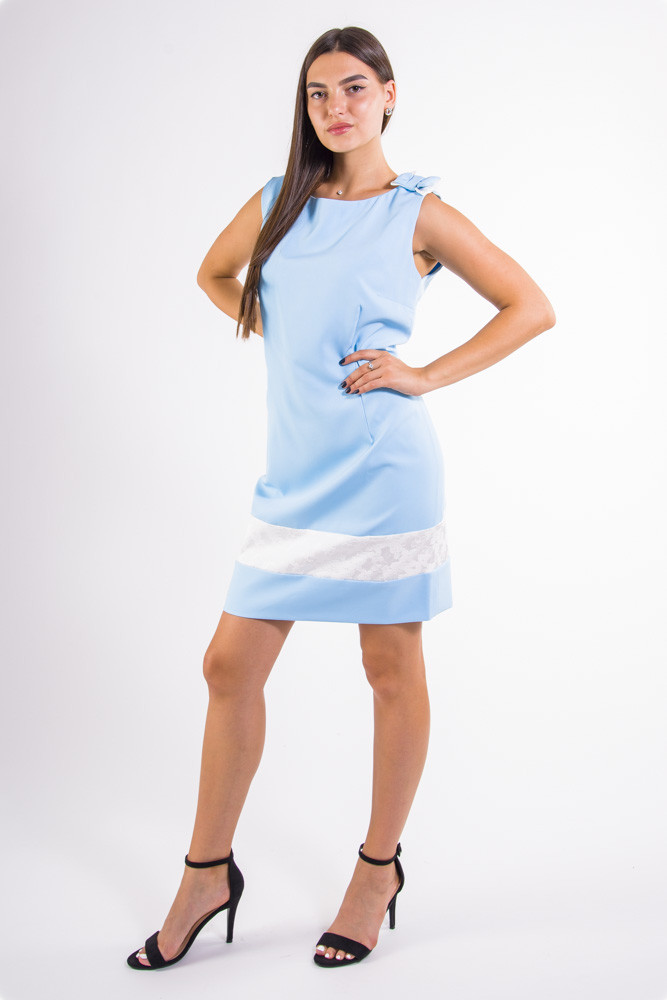 Платье 101R026 цвет Голубой