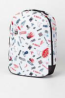 Принтованый городской рюкзак с карманом для ноутбука