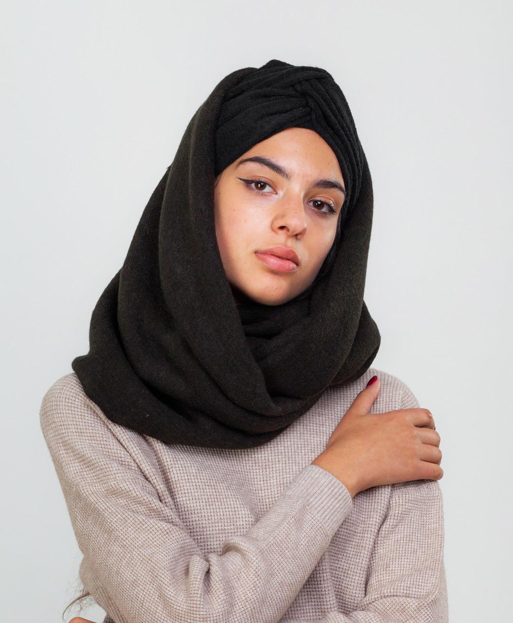 Тюрбан+шарф черный