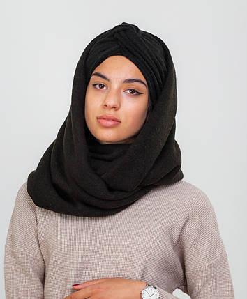 Тюрбан+шарф черный, фото 2