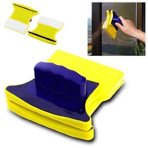 Магнитная щетка для мытья окон Double Side Glass Cleaner - 11.5 см., скребок для чистки стекол