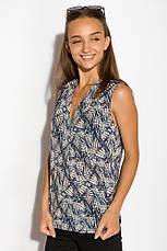 Блуза женская 516F483 цвет Сине-молочный, фото 2