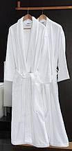 Халат  махровый  белый  шаль , плотность 380 г / м 2 , Турция .