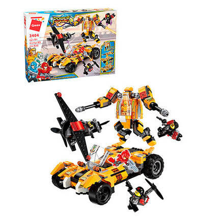 Конструктор Qman транспорт, робот, фігурки, 622 деталі, 3404, фото 2