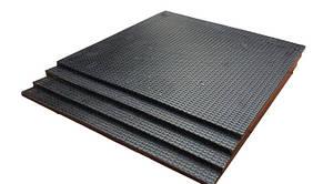 Коврик резиновый 500х500х7 под штангу или гантели. Напольное покрытие
