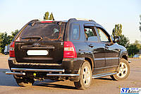 Kia Sportage (04-10) защитная дуга защита заднего бампера на для КИА Спортейдж Kia Sportage (04-10) d60х1,6мм