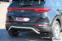 Kia Sportage (16+) защитная дуга защита заднего бампера на для КИА Спортейдж Kia Sportage (16+) d60х1,6мм