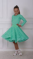 Рейтинговое платье Бейсик для бальных танцев Sevenstore 9102 Мята