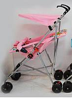 Детская легкая  прогулочная коляска Sigma Pink