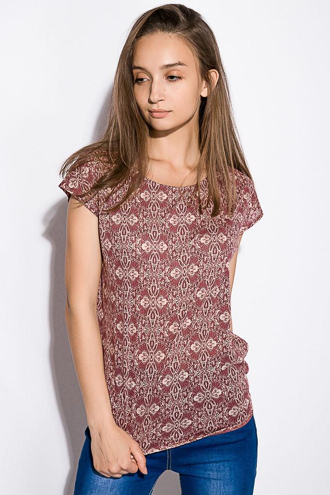 Блуза женская 516F446 цвет Бордово-молочный
