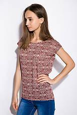 Блуза женская 516F446 цвет Бордово-молочный, фото 2