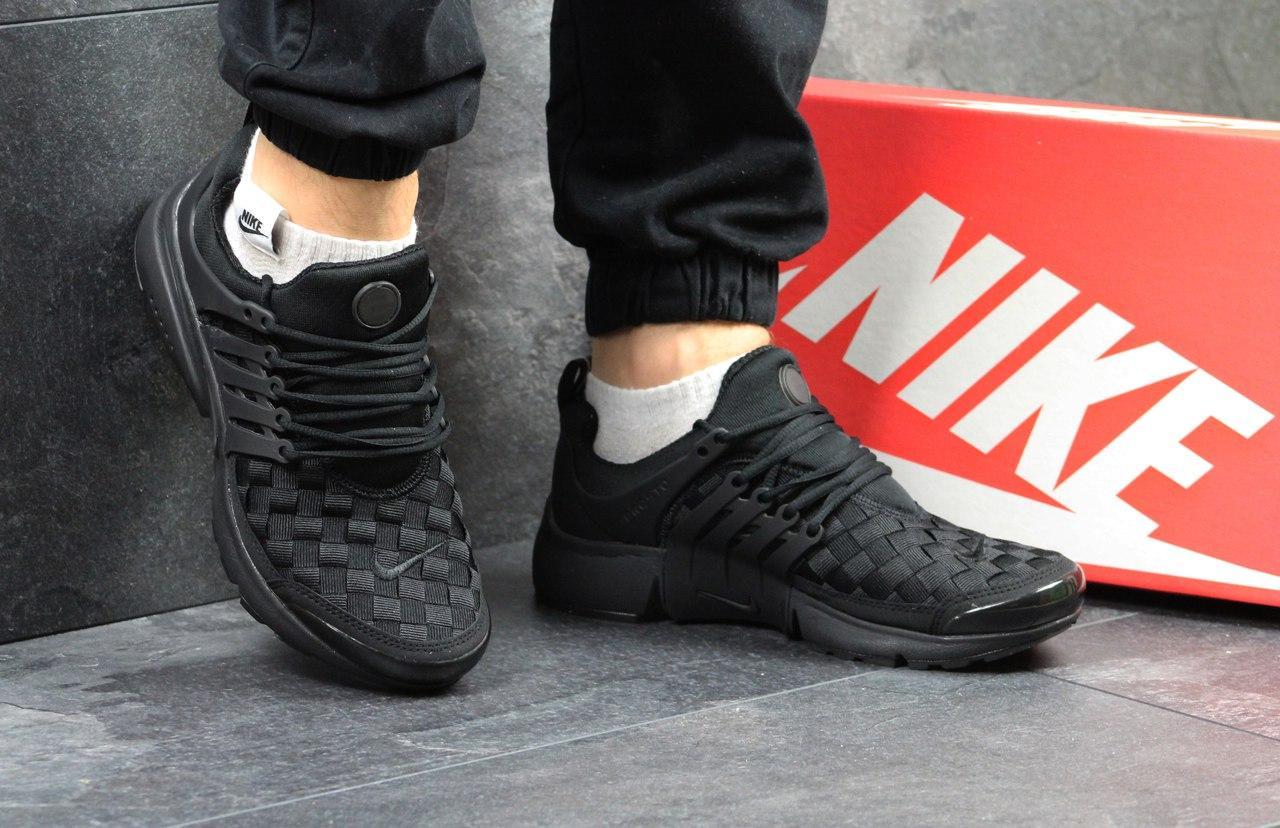 Кроссовки Nike air presto TP QS текстиль,черные 44р