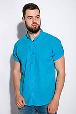 Рубашка 511F017 цвет Бирюзовый, фото 2