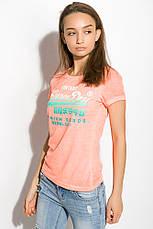 Футболка женская 516F467-2 цвет Оранжевый, фото 2