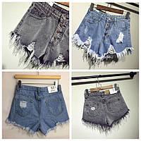 Шорты женские джинсовые, высокая талия!