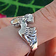 Мужское серебряное кольцо Орел - Мужское кольцо из серебра Птица Сапсан - Кольцо из серебра Сокол, фото 9