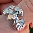Мужское серебряное кольцо Орел - Мужское кольцо из серебра Птица Сапсан - Кольцо из серебра Сокол, фото 2