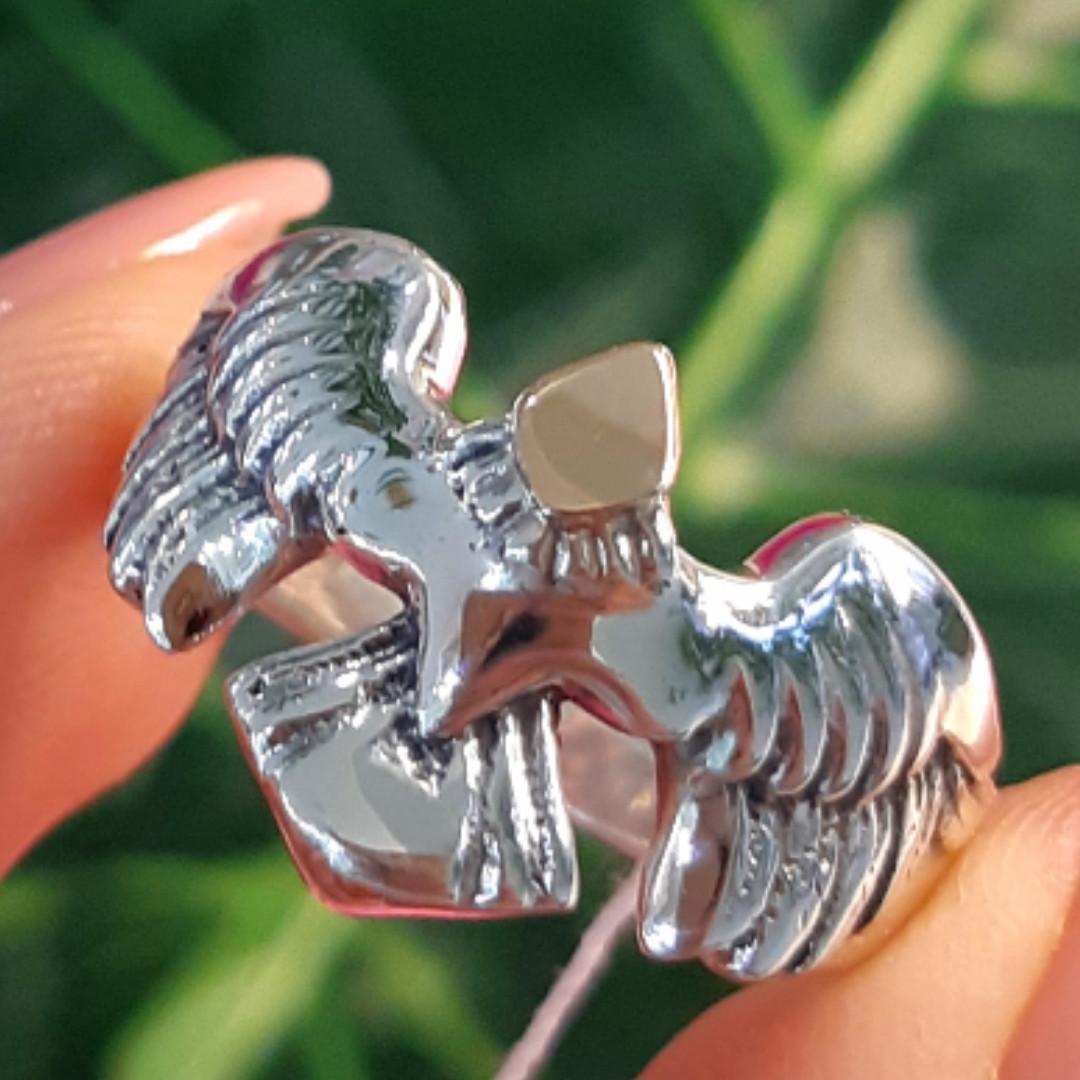 Мужское серебряное кольцо Орел - Мужское кольцо из серебра Птица Сапсан - Кольцо из серебра Сокол