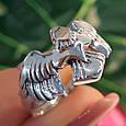 Мужское серебряное кольцо Орел - Мужское кольцо из серебра Птица Сапсан - Кольцо из серебра Сокол, фото 6