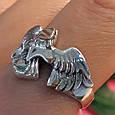 Мужское серебряное кольцо Орел - Мужское кольцо из серебра Птица Сапсан - Кольцо из серебра Сокол, фото 4