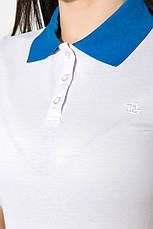 Поло женское 518F003 цвет Молочно-голубой, фото 2