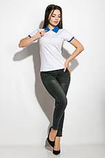 Поло женское 518F003 цвет Молочно-голубой, фото 3