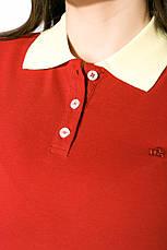 Поло женское 518F003 цвет Бордово-лимонный, фото 2