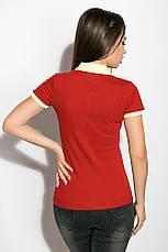 Поло женское 518F003 цвет Бордово-лимонный, фото 3