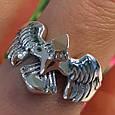 Мужское серебряное кольцо Орел - Мужское кольцо из серебра Птица Сапсан - Кольцо из серебра Сокол, фото 3