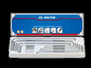 Шестигранники (комплект) Г-образные экстрадл. 8пр. KING TONY 20208SR01 (Тайвань)