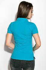 Поло женcкое 518F001 цвет Бирюзовый, фото 2