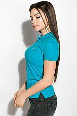 Поло женcкое 518F001 цвет Бирюзовый, фото 3