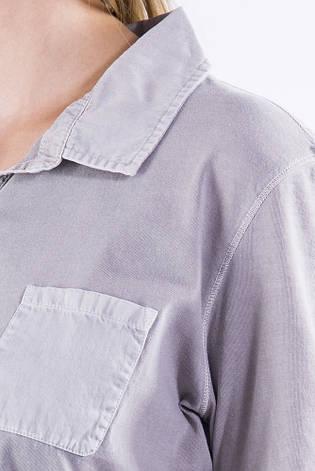 Поло женское 516F439-3 цвет Серая варенка, фото 2