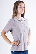 Поло женское 516F439-3 цвет Серая варенка, фото 3