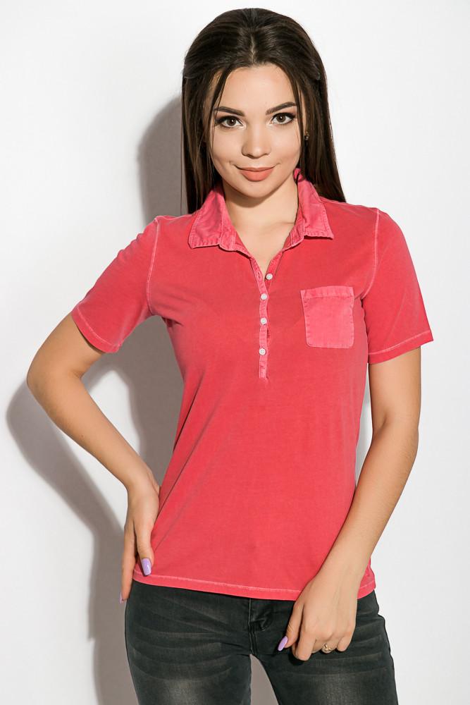 Поло женское 516F439-3 цвет Розовый варенка