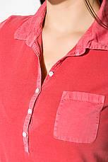 Поло женское 516F439-3 цвет Розовый варенка, фото 2