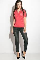 Поло женское 516F439-3 цвет Розовый варенка, фото 3