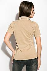 Поло женское 516F439-3 цвет Песочный варенка, фото 3