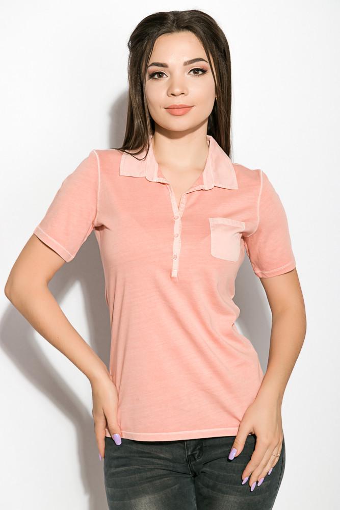 Поло женское 516F439-2 цвет Персиковый варенка