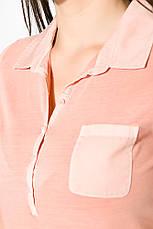 Поло женское 516F439-2 цвет Персиковый варенка, фото 2