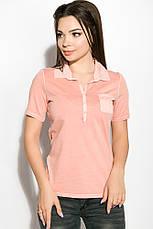 Поло женское 516F439-2 цвет Персиковый варенка, фото 3